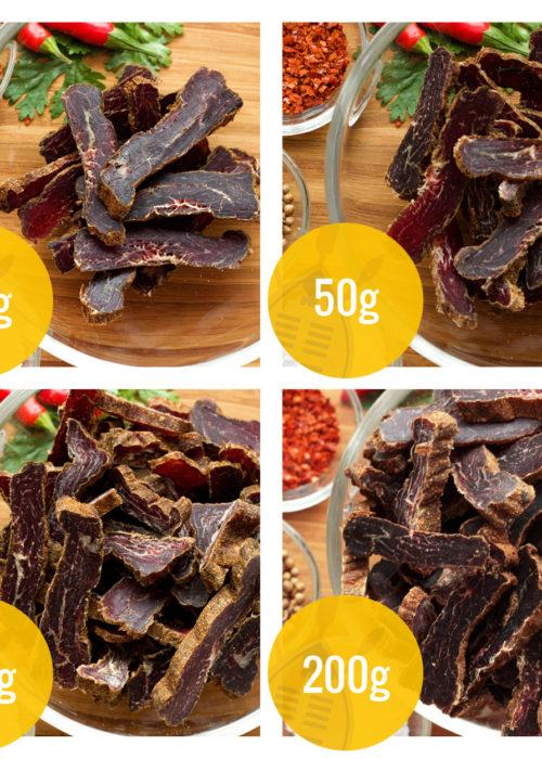 ZULU BILTONG   gramáže - hovězí sušené maso
